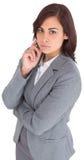 被聚焦的女实业家 免版税库存照片