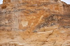 被腐蚀的岩层在Castle Rock荒地 库存照片