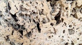 被腐蚀的岩石片断 免版税库存图片