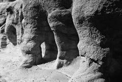 被腐蚀的岩石 免版税库存照片