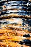 被腐蚀的盐矿管子 免版税库存图片