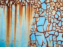 被腐蚀的铁锈油漆铁锈油漆 图库摄影
