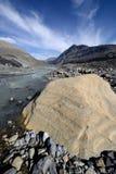 被腐蚀的风景哥伦比亚Icefield 免版税图库摄影