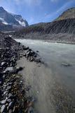 被腐蚀的风景哥伦比亚Icefield 库存图片