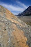 被腐蚀的风景哥伦比亚Icefield 库存照片
