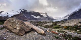 被腐蚀的风景哥伦比亚Icefield 免版税库存图片