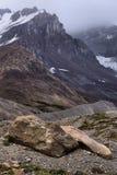 被腐蚀的风景哥伦比亚Icefield 免版税库存照片