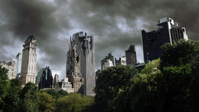 被自毁的城市 库存图片