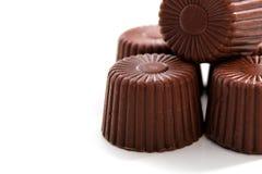被舍入的巧克力 免版税库存图片