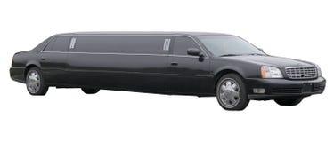 被舒展的黑色大型高级轿车 免版税库存照片