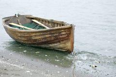 被荡桨的岸 免版税库存图片
