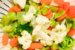被蒸的蔬菜 免版税库存图片