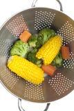 被蒸的蔬菜 免版税库存照片