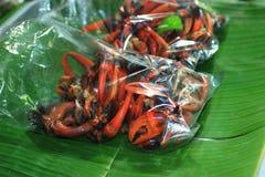 被蒸的螃蟹 免版税库存照片