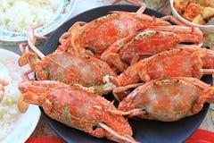 被蒸的螃蟹 免版税库存图片