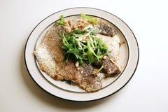 被蒸的鱼新鲜 免版税库存图片