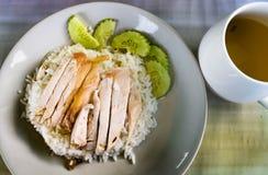 被蒸的鸡用米 免版税库存图片