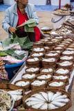 被蒸的Indo和平的鲭鱼商店 免版税库存图片