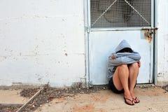 被虐待的受害者 免版税图库摄影