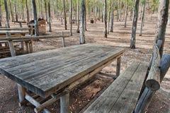 被装备的野餐区 免版税图库摄影