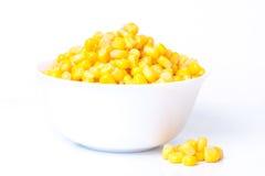 被装罐的玉米 免版税库存图片