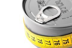 被装罐的食物 免版税图库摄影