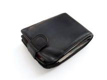 被装载的皮革严密的钱包 库存照片