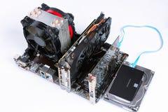 被装配的现代桌面硬件 库存图片