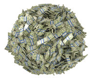 被装配的球捆绑美元塑造我们 库存照片