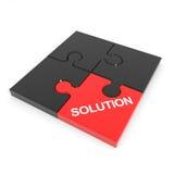 被装配的难题解决方法 库存例证