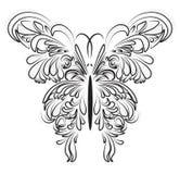 被装饰的传染媒介蝴蝶艺术性的鞋带 库存图片