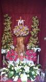 被装饰的十字架 库存照片