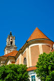 被装饰的巴洛克式的教会尖顶 库存照片