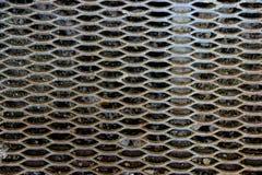 被装饰的金属步表面  免版税图库摄影