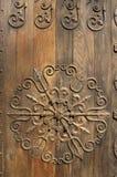 被装饰的门 免版税库存照片