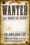 被要的葡萄酒西部海报 免版税库存照片