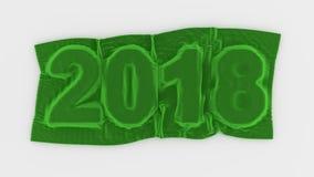 被覆盖的明年2018个标志天鹅绒 免版税库存图片
