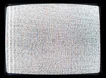 被解谐的电视屏幕静态噪声  图库摄影