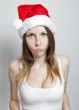 被触犯的圣诞节女孩 免版税库存图片