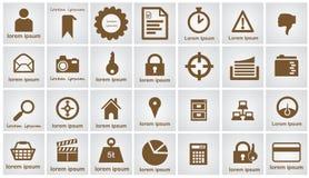 被设置的万维网图标 免版税库存照片