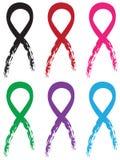 被设置的五颜六色的丝带 向量例证