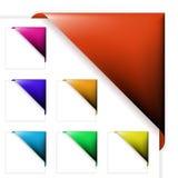 被设置的五颜六色的壁角丝带 免版税库存照片