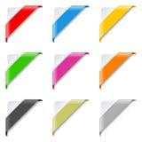 被设置的五颜六色的壁角丝带 库存照片