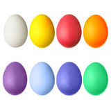 被设置的五颜六色的复活节彩蛋 免版税图库摄影