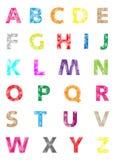 被设置的五颜六色的字母表-金刚石几何样式 库存照片
