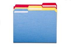 被设置的五颜六色的文件夹 免版税库存照片