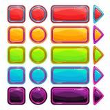 被设置的五颜六色的明亮的按钮 免版税库存照片