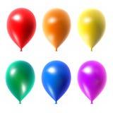 被设置的五颜六色的气球。 免版税库存图片