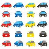 被设置的五颜六色的汽车 图库摄影