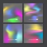 被设置的五颜六色的背景 传染媒介滤网模板 向量例证